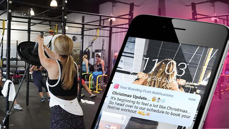 branded push notifications to grow your fitness business