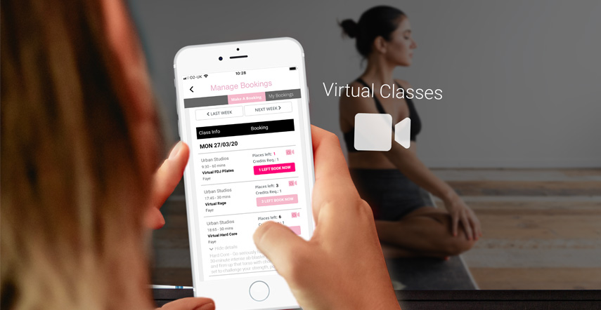 virtual classes and home workouts